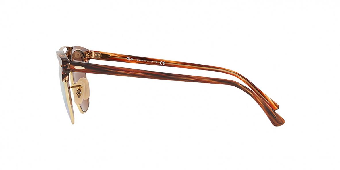 Ray-Ban Sunglass 3816S 1237I1 51عینک آفتابی ریبن مدل 3816 کلاب مستر با عدسی آیینه ای طلایی مناسب خانم ها و آقایان