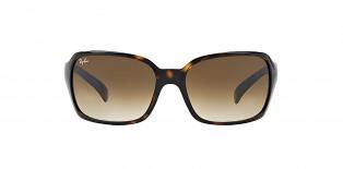 RayBan Sunglass 4068s 071051 60عینک آفتابی ریبن با عدسی های قهوه ای مستطیلی