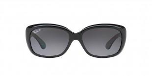 RayBan Sunglass 4101S 0601T3 58عینک آفتابی ریبن گربه ای مدل 4101 مشکی با عدسی دودی سایه روشن مناسب خانم ها