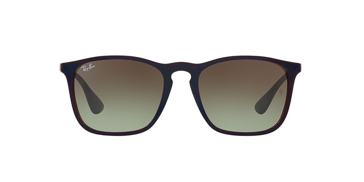 RayBan 4187S 6315E8 54عینک آفتابی ریبن مربعی مدل 4187 اریکا با عدسی سبز قهوه ای مناسب خانم ها و آقایان