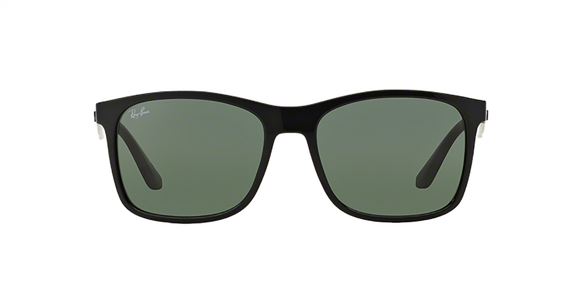 RayBan 4232S 060171 57عینک آفتابی ریبن مدل 4232 مربعی مشکی با عدسی سبز مناسب آقایان