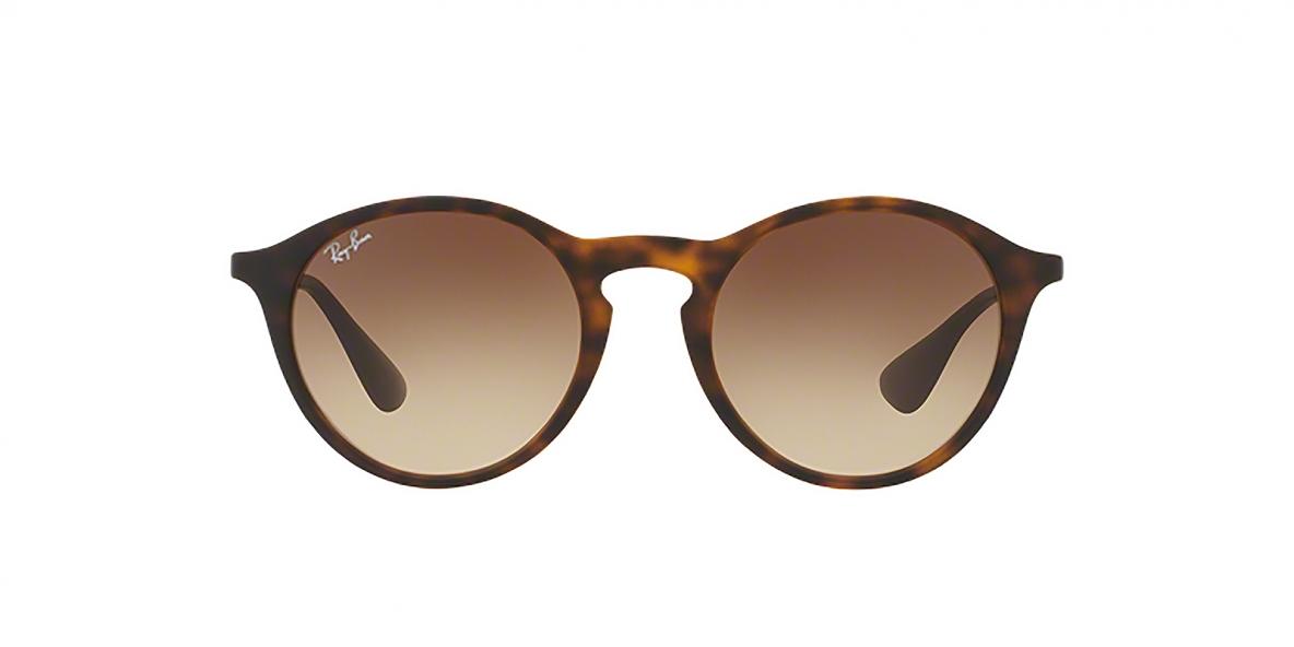 Ray-Ban 4243S 086513 49 عینک آفتابی ریبن گرد مدل 4243 مناسب خانم ها و آقایان قهوه ای هاوانا