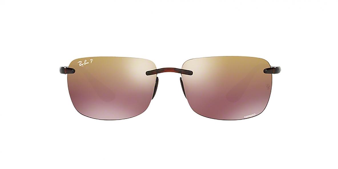 RayBan 4255S 06046B 60 عینک آفتابی مستطیلی بدون فریم ریبن مدل 4255 مناسب آقایان