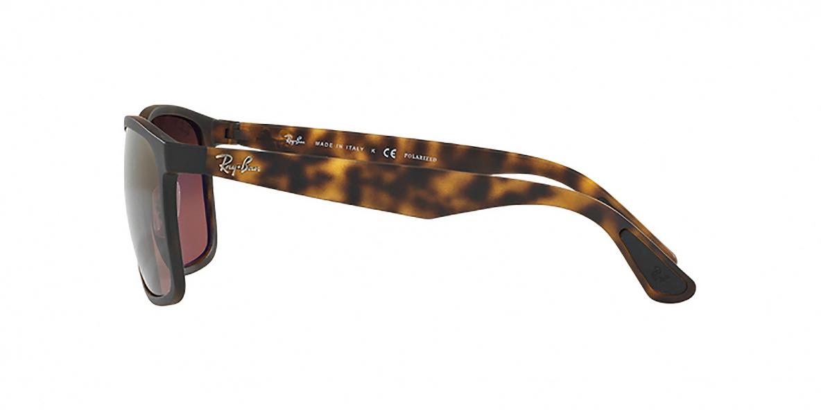 RayBan 4264S 08946B 58عینک آفتابی ریبن مربعی هاوانا مدل 4264 عدسی پلاریزه بنفش مناسب آقایان
