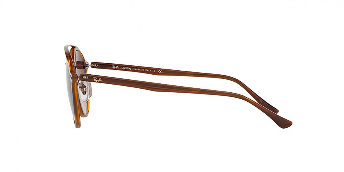 RayBan 4266S 620113 49عینک آفتابی گرد قهوه ای ریبن دو پل تیتانیوم مناسب خانم ها و آقایان مدل 4266