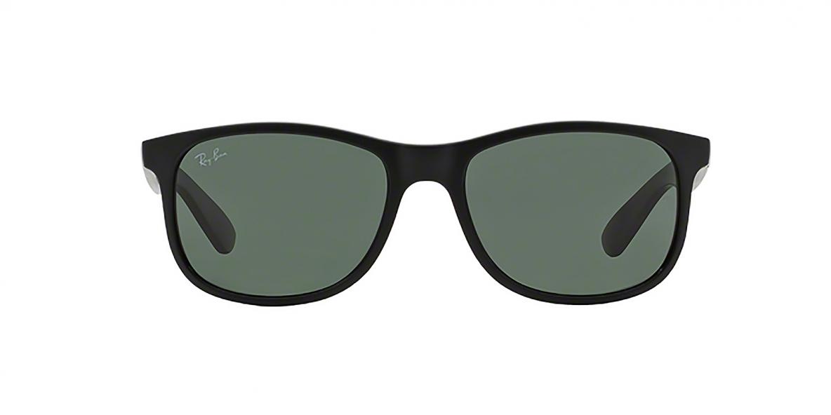 RayBan 4202S 606971 55عینک آفتابی ریبن مدل 4202 ویفرر مشکی با عدسی سبز تیره