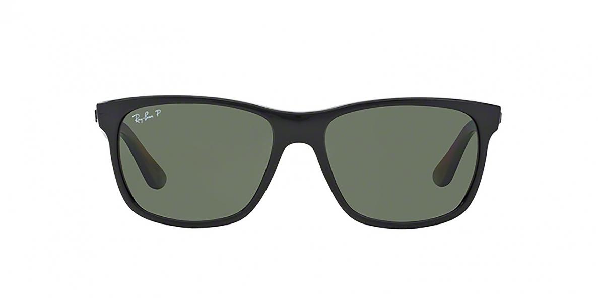 RayBan 4181S 06019A 57عینک آفتابی ریبن مدل 41814181 مناسب آقایان عدسی سبز پلاریزه فریم مشکی