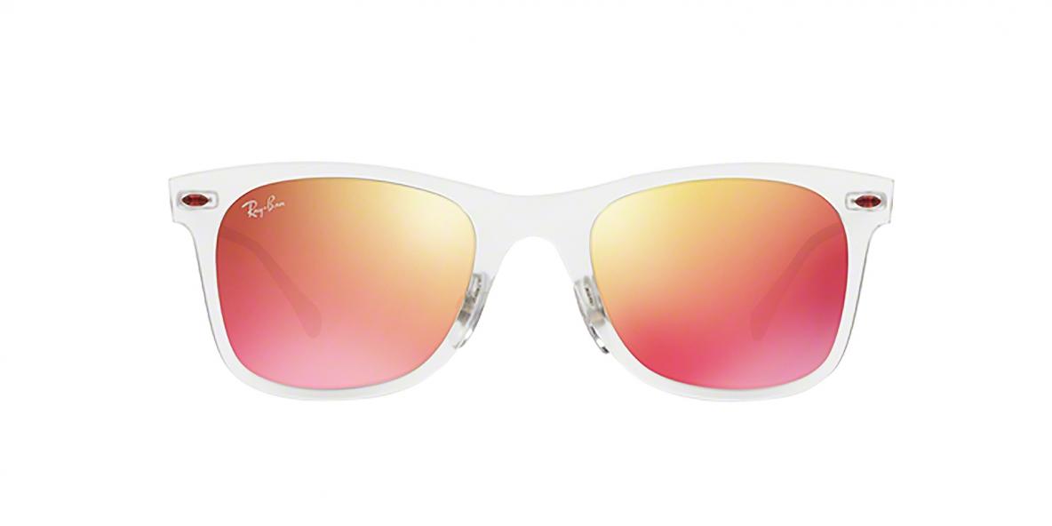 RayBan 4210S 06466Q 50عینک آفتابی ریبن مدل 4210 مناسب خانم ها و آقایان فریم نقره ای شیشه ای و دسته های تیتانیومی