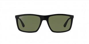 RayBan 4228S 06019A 58عینک آفتابی ریبن مدل 4228 مناسب آقایان با عدسی سبز و فریم مستطیل مشکی