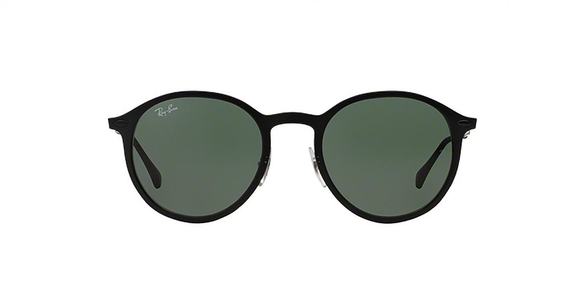 Ray-Ban 4224S 601S71 49 عینک آفتابی گرد ریبن مدل 4224 با عدسی های سبز کلاسیک و بدنه مشکی مات مناسب خانم ها و آقایان