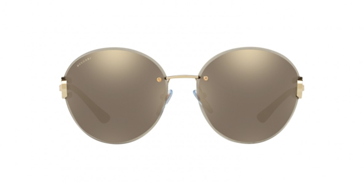 Bvlgari Sunglass 6091B 02785A 61عینک آفتابی زنانه بولگاری گرد