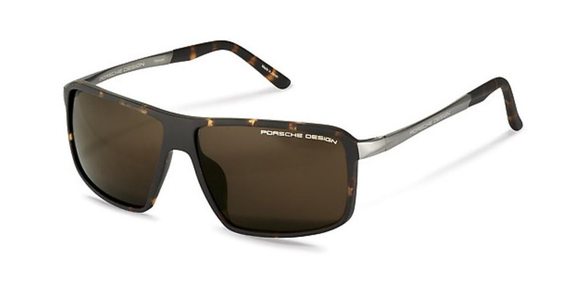 PorscheDesign P8650 B 60عینک آفتابی مردانه پورشه دیزاین مستطیلی