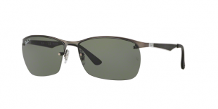 Ray-Ban 3550S 00299A 64 عینک آفتابی مردانه ریبن مستطیلی