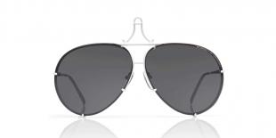 PorscheDesign Sunglass 8478 P عینک آفتابی پورشه دیزاین 8478 خلبانی 66 میلی متری عدسی دودی و فریم تیتانیوم سفید| عینک نور