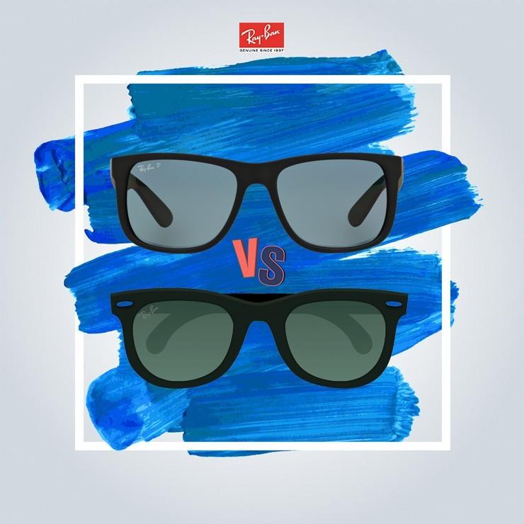 مقایسه عینک آفتابی ریبن جاستین و عینک آفتابی ویفرر